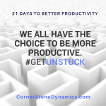 Get Unstuck And Be More Productive With A Little Push From A Pro