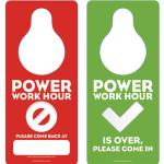 power hour door hanger
